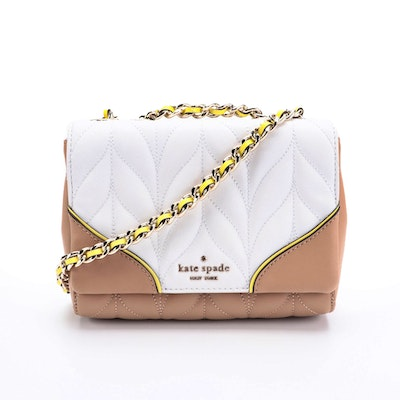 Kate Spade Quilted Color Block Front Flap Bag