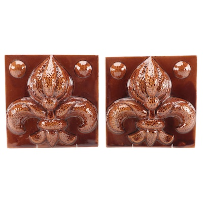 Fleur-de-lis Ceramic Wall Plaques, Late 20th to Early 21st Century