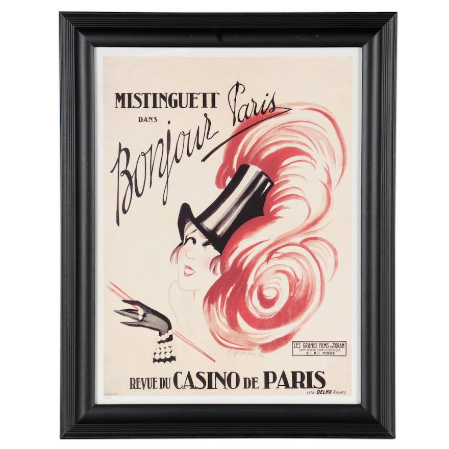 """Giclée after Charles Gesmar """"Mistinguett, Bonjour Paris"""" Late 20th-21st Century"""