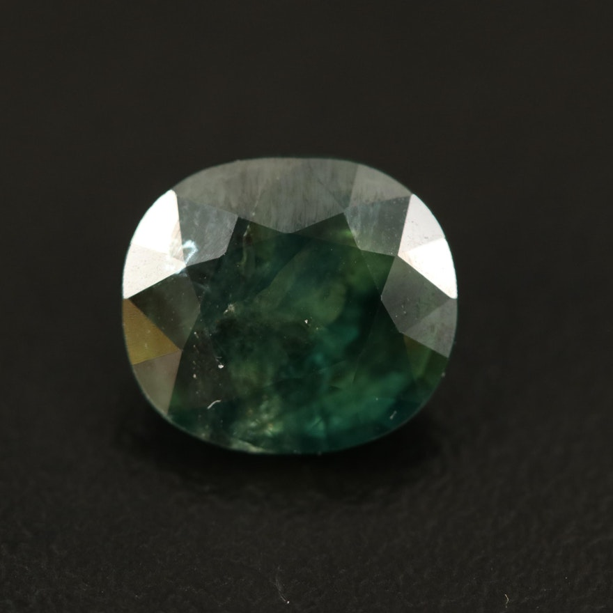 Loose 5.36 CT Oval Faceted Sapphire