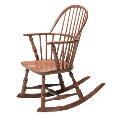 Mayhew Company Colonial Revival Birch Rocking Chair