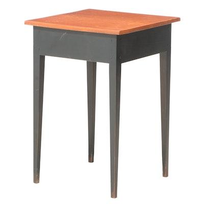 David T. Smith Parcel-Ebonized Poplar End Table