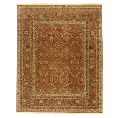 8'1 x 10'4 Hand-Knotted Indian Floral Area Rug from The Rug Gallery