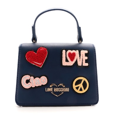 Love Moschino Ciao Patch Mini Two-Way Top Handle Bag