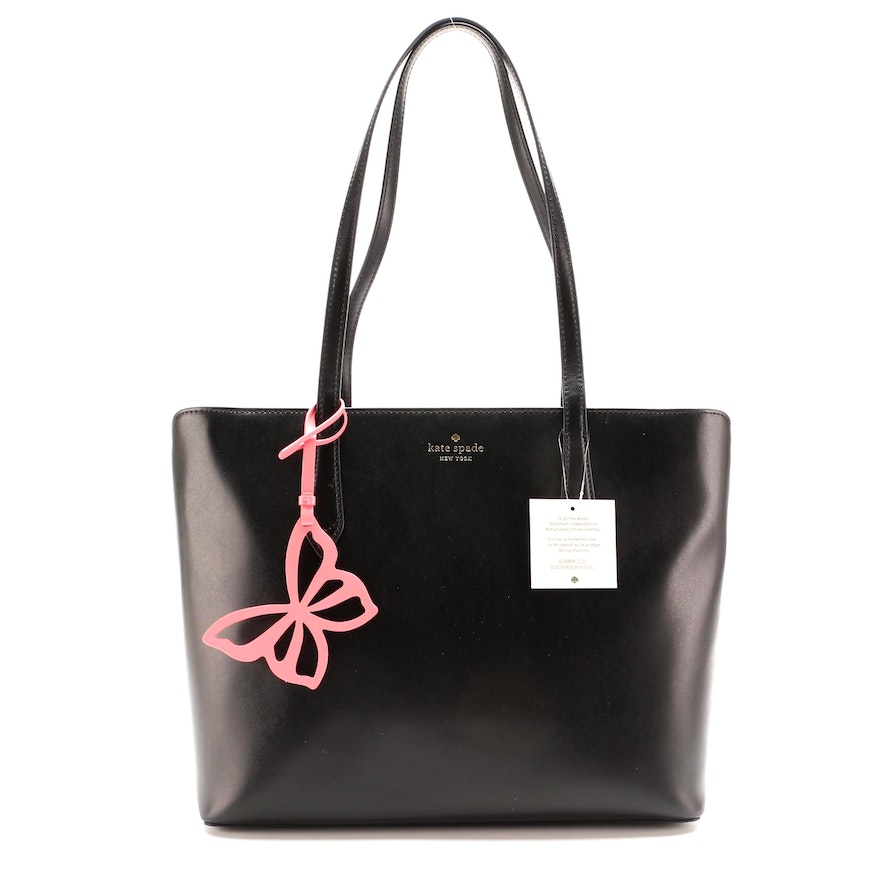Kate Spade Marlee Butterfly Tote in Black Leather