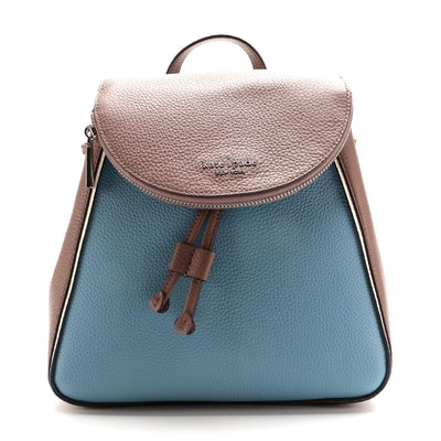 Kate Spade Leila Medium Colorblock Backpack in Pebbled Leather