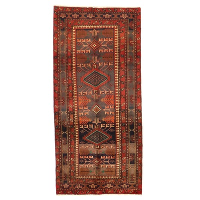 3'6 x 7'11 Hand-Knotted Caucasian Karabakh Long Rug
