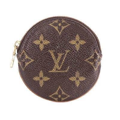 Louis Vuitton Round Coin Purse in Monogram Canvas