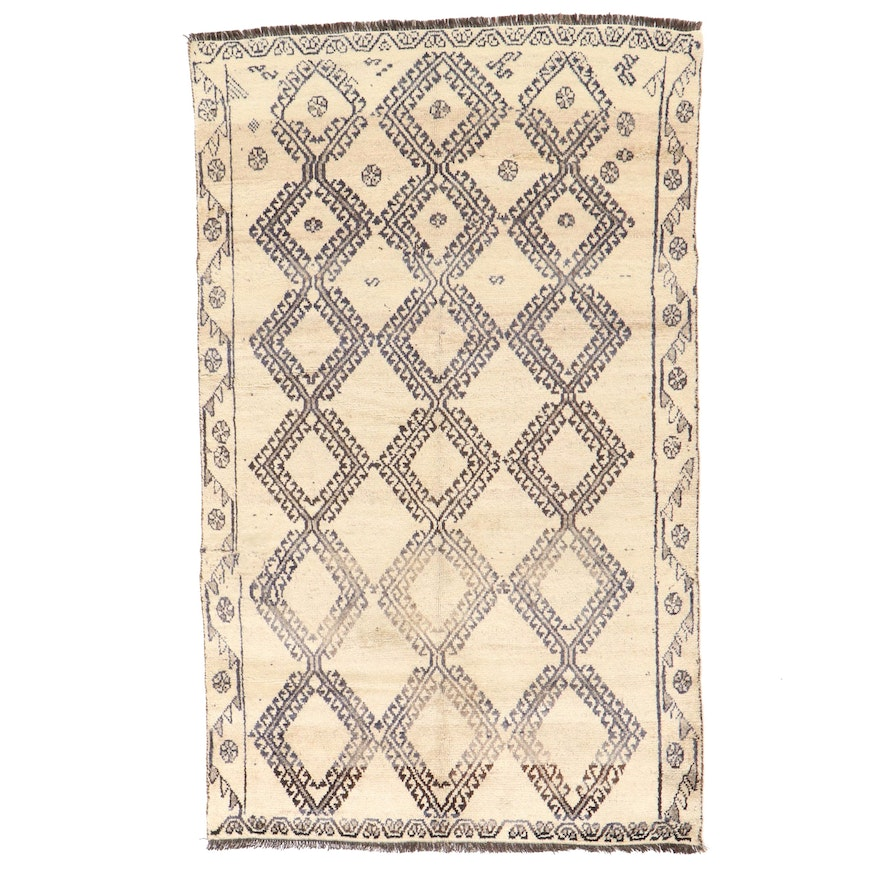 4'9 x 8' Hand-Knotted Persian Gabbeh Area Rug