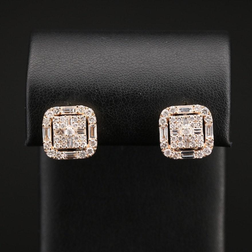 14K 2.27 CTW Diamond Earrings