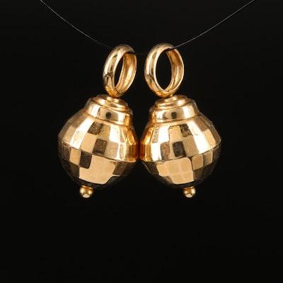 14K Faceted Sphere Drop Earring Enhancers