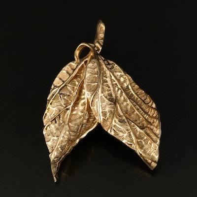 Christian Dior Leaf Brooch