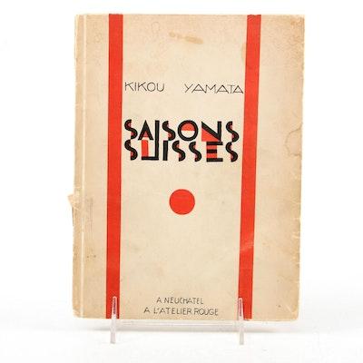 "French Language Limited Edition ""Saisons suisses"" by Kikou Yamata, 1929"