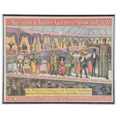 """Offset Lithograph Advertisement """"Barnum & Bailey Greatest Show on Earth"""""""