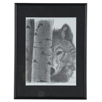 """Glenn Hoyle Offset Lithograph """"Silent Watcher,"""" circa 1990"""