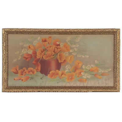 Floral Still Life Chromolithograph after Henri LeRoy, Late 19th Century
