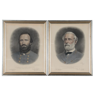 Adam B. Walter Engravings of Confederate Generals, Late 19th Century