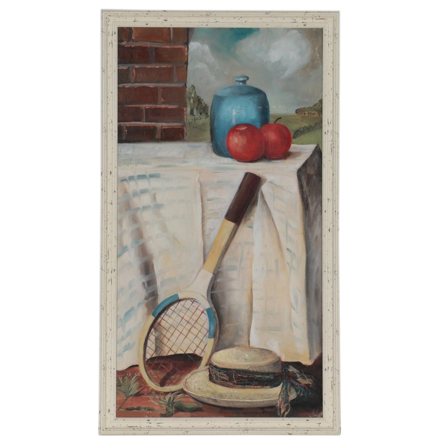 Still Life Oil Painting, Late 20th Century