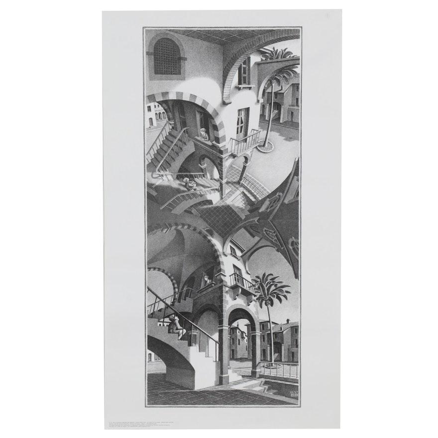 "Offset Lithograph after M.C. Escher ""Trappenhuis,"" 21st Century"