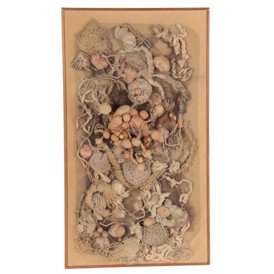 """Miriam S. Peck Mixed Fiber Composition """"Sea Growth,"""" Mid-Late 20th Century"""