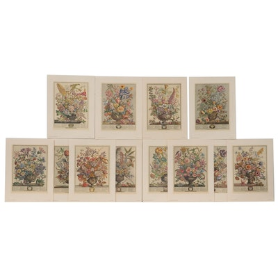 "Offset Lithographs after Robert Fuber ""Twelve Months of Flowers,"" 1964"