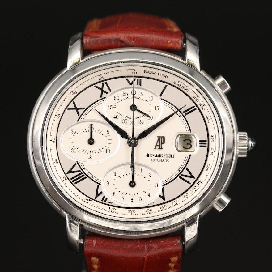 Audemars Piguet Millenary Chronograph Stainless Steel Automatic Wristwatch
