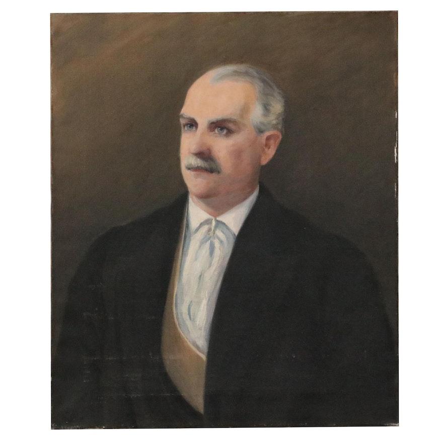 L. Wood Oil Portrait of C. Paul Denckla, 1898