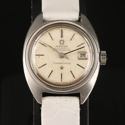 """1966 Omega Constellation """"C"""" Stainless Steel Automatic Wristwatch"""