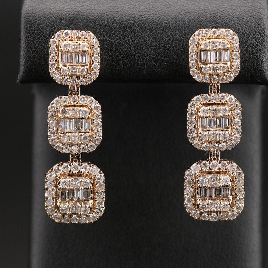 14K 4.50 CTW Diamond Earrings