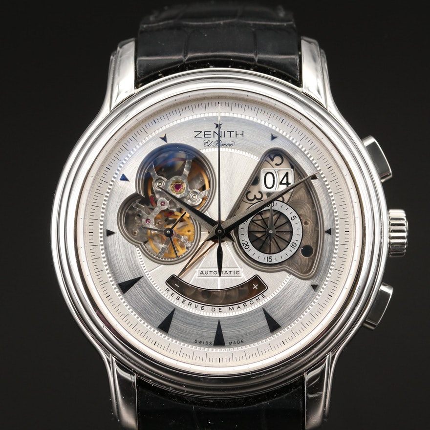 "Zenith ""Chronomaster XXT Open Grande Date"" Stainless Steel Wristwatch"
