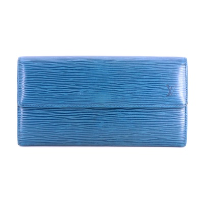 Louis Vuitton Sarah Wallet in Toledo Blue Epi Leather