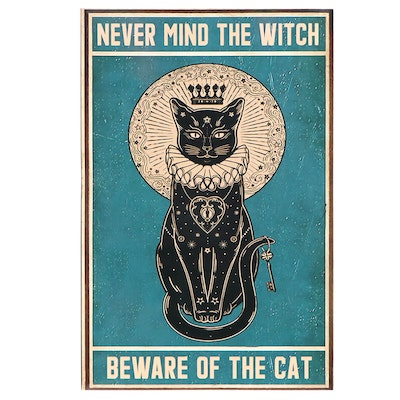 """Giclée of Black Cat """"Never Mind the Witch Beware of the Cat"""""""