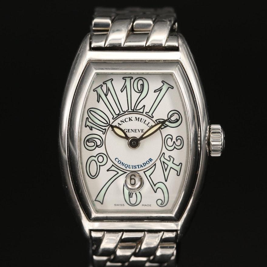 Franck Muller Conquistador Lady Stainless Steel Wristwatch