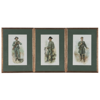 Chromolithographs after William Ludwell Sheppard of Confederate Soldiers