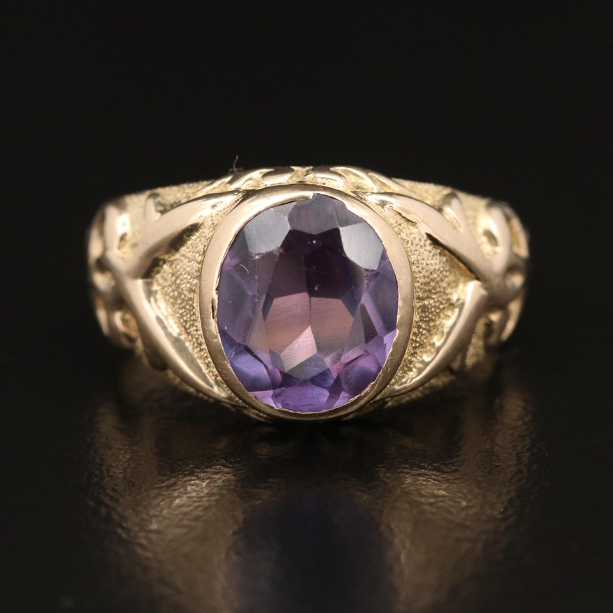 14K and 10K Color Change Sapphire Ring