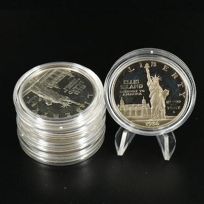 Five 1986-S Statue of Liberty Centennial Commemorative Proof Dollars