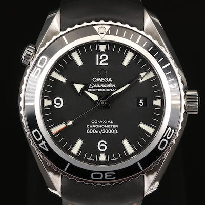 """Omega """"Seamaster Planet Ocean"""" 600M Co-Axial Stainless Steel Wristwatch"""