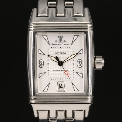 Jaeger-LeCoultre Reverso Gransport Stainless Steel Automatic Wristwatch