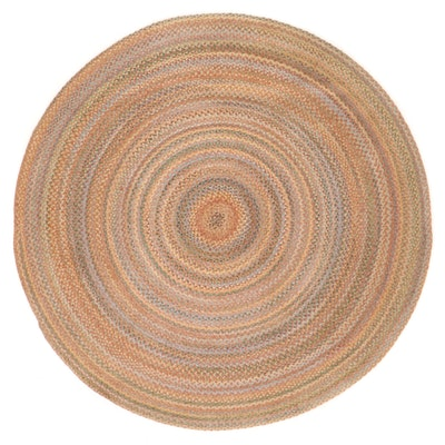 8'4 Round Handmade Braided Coil Area Rug