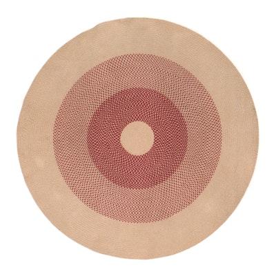 8' Round Handmade Braided Coil Area Rug