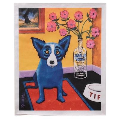 "Giclée after George Rodrigue of ""Blue Dog"""