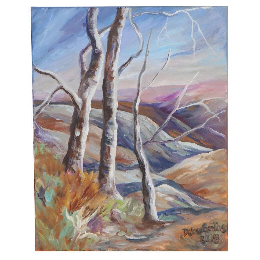 Kristina Delossantos Landscape Oil Painting, 2018