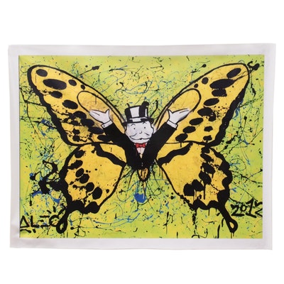"""Giclée after Alec Monopoly """"Monopoly Butterfly"""""""