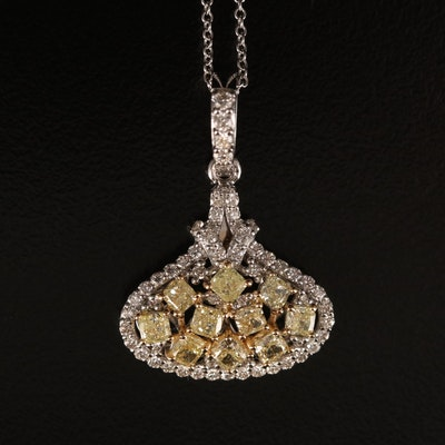 18K 1.68 CTW Diamond Pendant Necklace