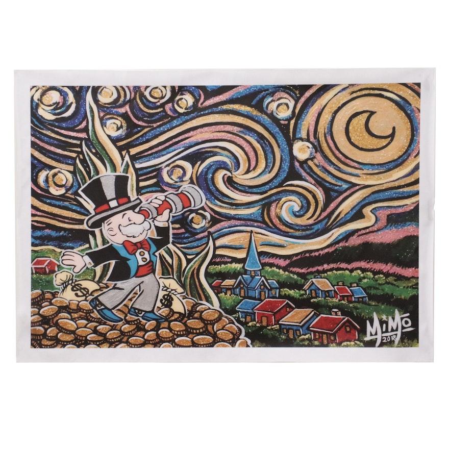 "Pop Art Giclée after Mike ""MiMo"" Mozart ""Starry Night"""