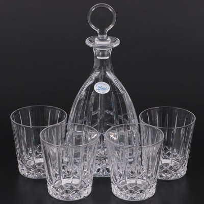 Wedgwood Crystal Double Old Fashioned Glasses with Badash Crystal Decanter