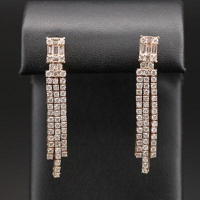 14K 2.77 CTW Diamond Fringe Earrings