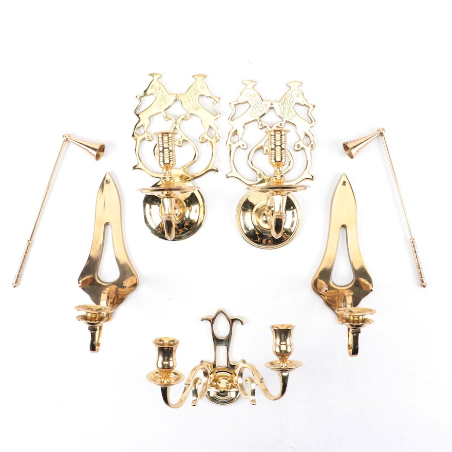 Virginia Metal Crafters Colonial Williamsburg Brass Wall Sconces with Other