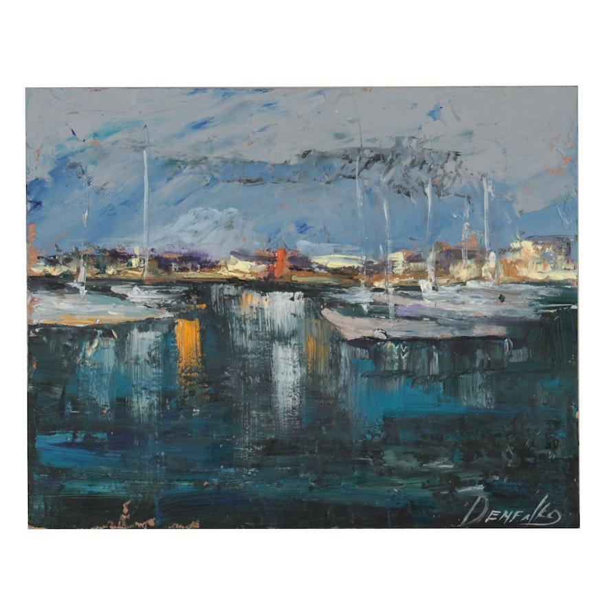 Natalia Demenko Oil Painting of Marina, 21st Century