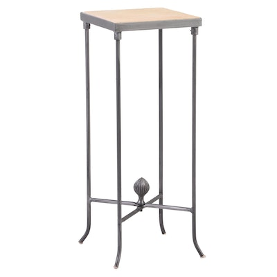 Alex & Ivy Iron and Stone Top Stand
